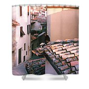 Tuscan Cat Photograph Shower Curtain