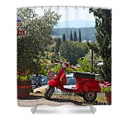 Tuscan Landscape And Scooter Shower Curtain