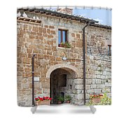 Tuscan Old Stone Building Shower Curtain