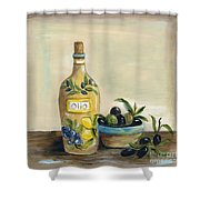 Tuscan Olive Oil  Shower Curtain