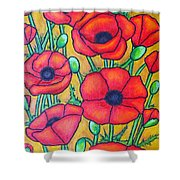 Tuscan Poppies - Crop 1 Shower Curtain