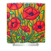 Tuscan Poppies - Crop 2 Shower Curtain
