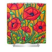 Tuscan Poppies - Crop 2 Shower Curtain