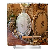 Tuscan Pottery Shower Curtain