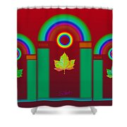 Tuscan Red Shower Curtain