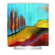 Tuscan Sentinels Shower Curtain