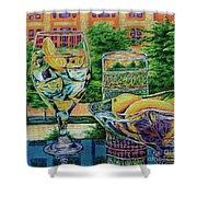 Tuscan Summer Lemonade  Shower Curtain