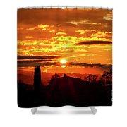Tuscan Sunset Shower Curtain