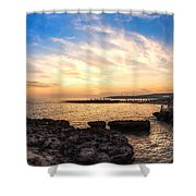 Tuscan Sunset On The Sea In Italy Shower Curtain