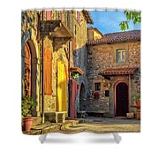 Tuscan Villa Early Morning Shower Curtain