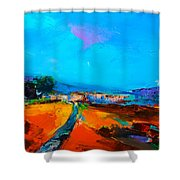 Tuscan Village Shower Curtain by Elise Palmigiani