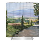 Tuscan Walk Shower Curtain