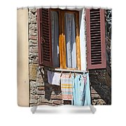 Tuscan Window And Laundry Shower Curtain