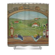 Tuscan Window View Shower Curtain