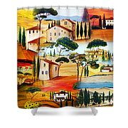 Tuscany Collage Shower Curtain