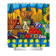 Tuscany Delights Shower Curtain