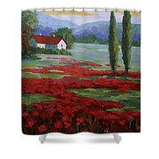 Tuscany Fields Shower Curtain