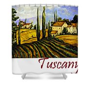 Tuscany Graphics Shower Curtain
