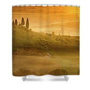 Tuscany In Golden Shower Curtain