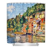 Tuscany On The Lake Shower Curtain