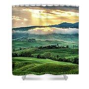 Tuscany Sunburst- Shower Curtain