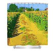 Tuscany Sunflowers Shower Curtain