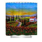 Tuscany Sunset Shower Curtain