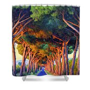Tuscany Tree Tunnel Shower Curtain