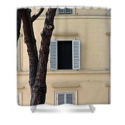 Tuscany Window Shower Curtain by Julian Perry