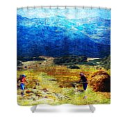 Tusheti Hay Makers I Shower Curtain