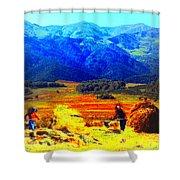 Tusheti Hay Makers IIi Shower Curtain