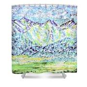 Tusheti Hay Meadows Caucasus Mountains I Shower Curtain