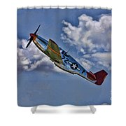 Tuskegee Mustang Red Tail Shower Curtain