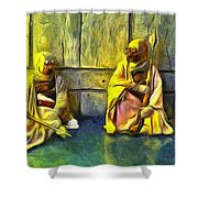 Tuskens At Break - Pa Shower Curtain