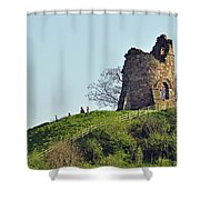 Tutbury Castle Ruins Shower Curtain