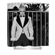Tuxedo Vampire Shower Curtain