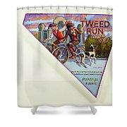 Tweed Run London 2 Guvnors  Shower Curtain