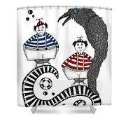 Tweedle-dee Tweedle-dum Shower Curtain