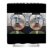 Tweedledee And Tweedledum Shower Curtain