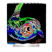 Tweeter Shower Curtain