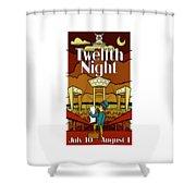 Twelfth Night Poster Shower Curtain