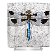 Twelve Spotted Skimmer Shower Curtain by Charles Harden