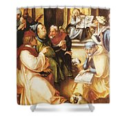 Twelve Year Old Jesus In The Temple 1497 Shower Curtain