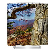 Twenty Minute Cliff Blue Ridge Parkway I Shower Curtain