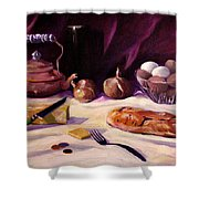Twenty Seven Cents And Bread Shower Curtain