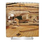 Twenty-seven Pound Cannon On A Battleship Shower Curtain