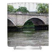 Twickenham Bridge Spans The Thames Shower Curtain