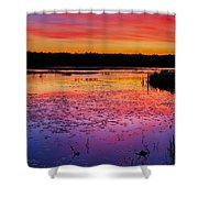 Twilight Afterglow #1 Shower Curtain