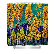 Twilight Aspens Shower Curtain