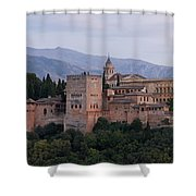 Twilight At The Alhambra Shower Curtain